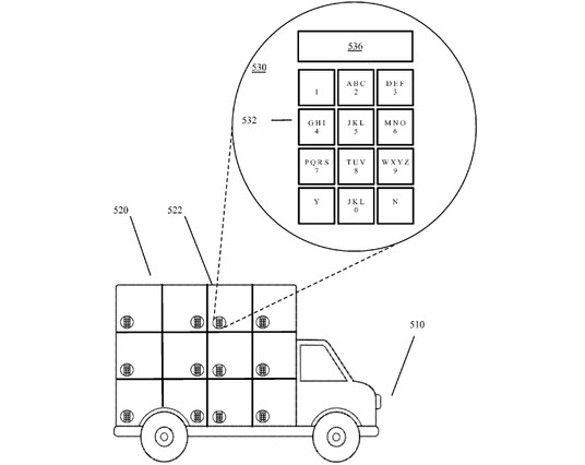 Google patenta un camión para repartir sin repartidor