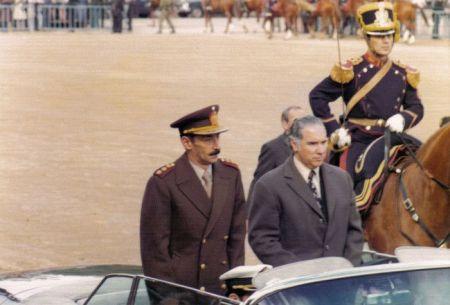 El dictador argentino Rafael Videla en Buenos Aires, año 1980.