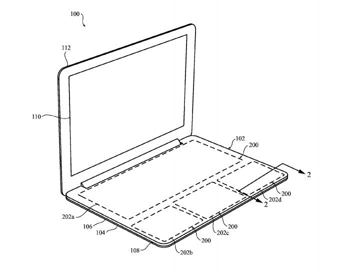 Apple patenta el teclado-touchpad sin teclas