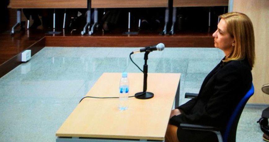 a010-01 La Infanta doña Cristina de Borbón y Grecia en el caso Nóos preguntada por el uso de la tarjeta de Aizoon