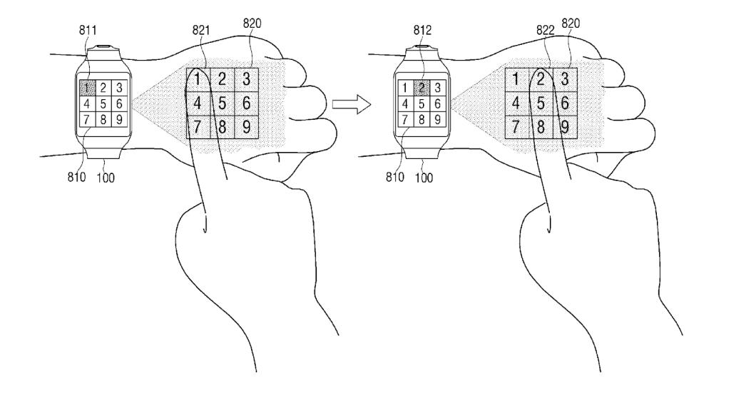 Samsung quiere patentar un sistema de interface virtual para los smartwatch