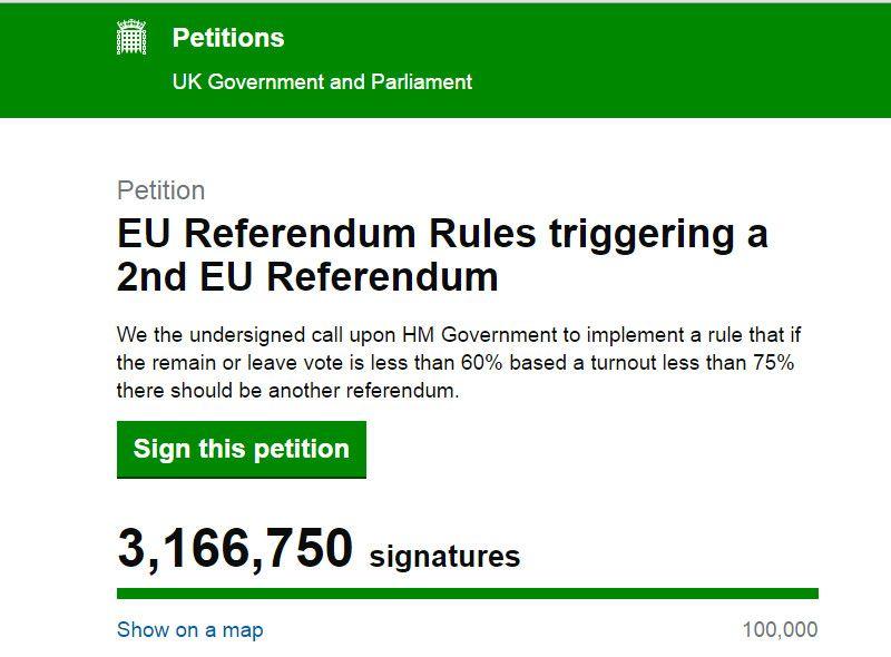 2016-06-26 Del Brexit al Bregret más de 3 millones de firmas para un nuevo referéndum