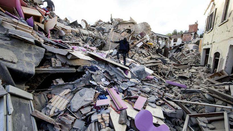 Un terremoto de magnitud 6,2 en la escala de Richter sacude el centro de Italia